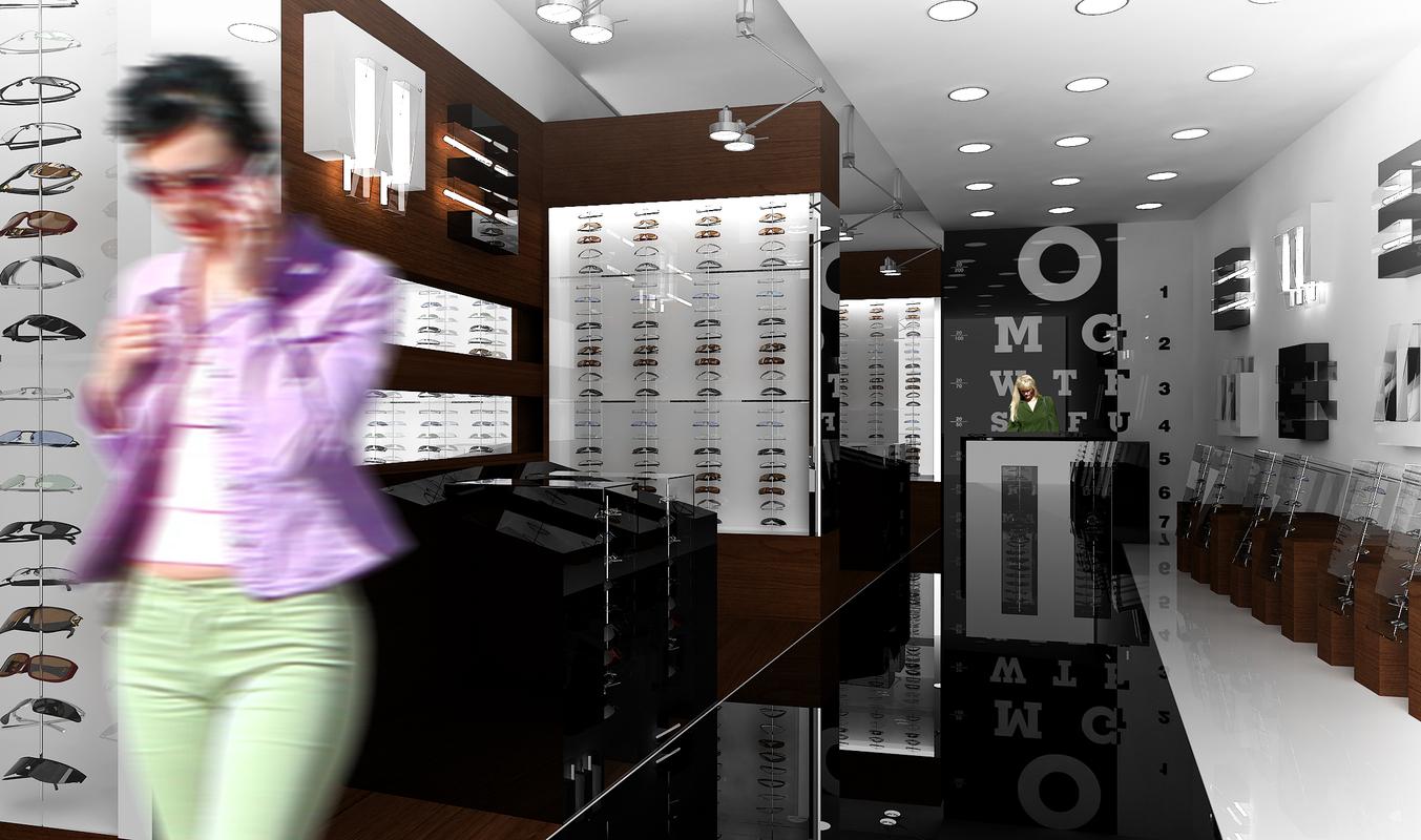 optical store interior 3D model
