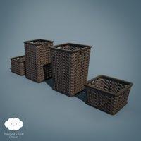 laundry basket pack 3D