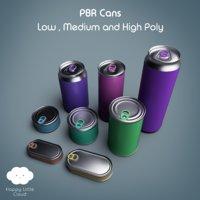 3D pbr tin pack