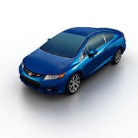 3d model 2012 honda civic coupe