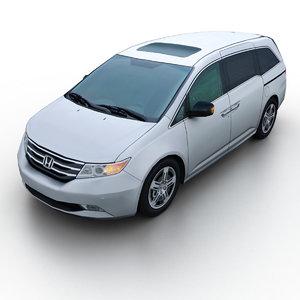 2011 honda odyssey minivan 3d model