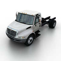 3d model international durastar truck chassis