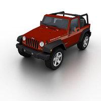 3d 2006 jeep wrangler rubicon