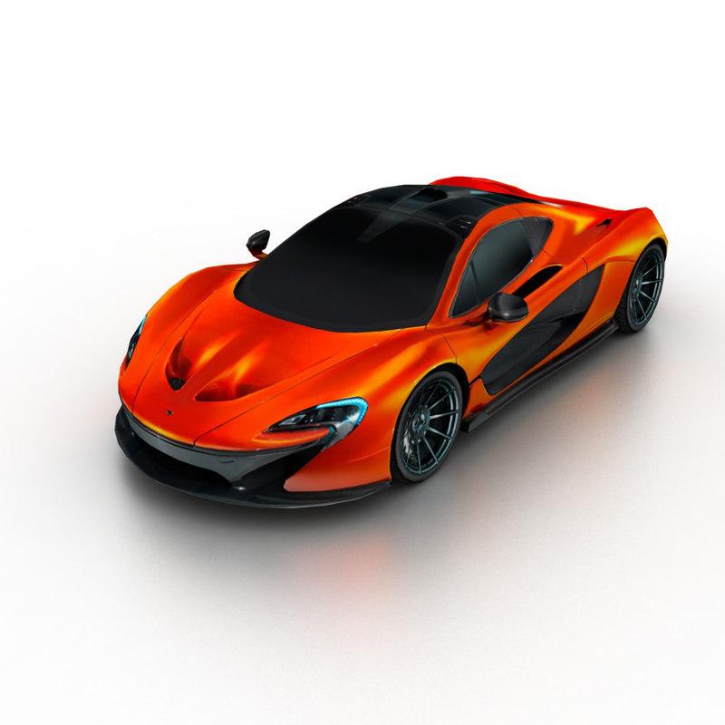 3d model 2014 mclaren p1 concept