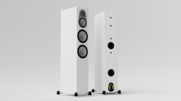 monitor silver 300 speakers 3D model