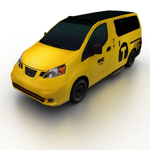 2014 nissan nv200 taxi 3d model