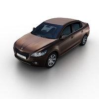 2013 peugeot 301 sedan 3d max