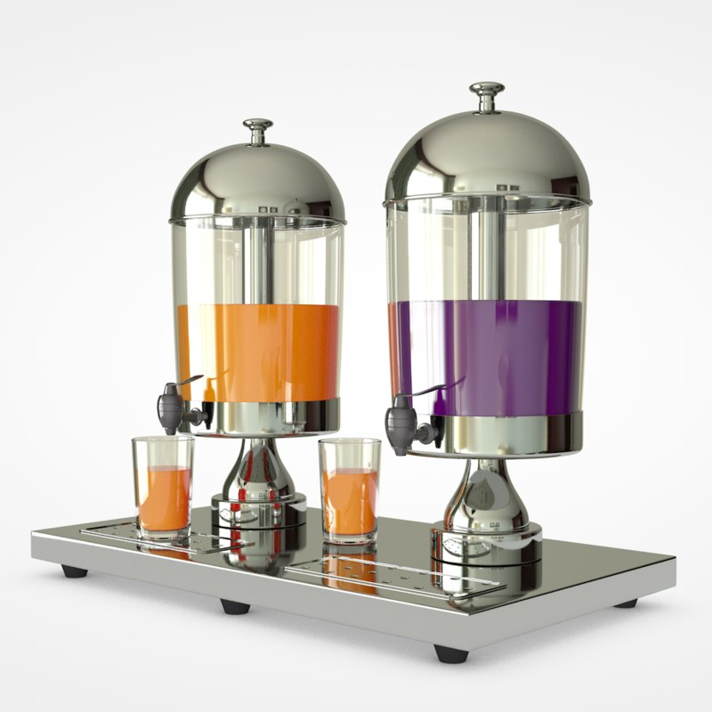3D model juice dispenser