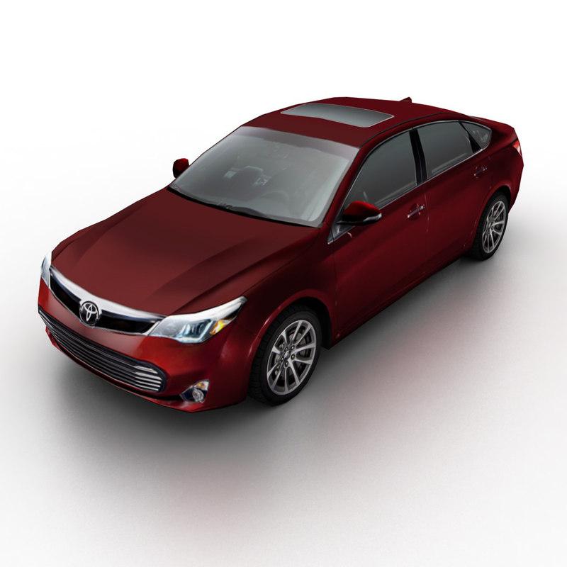 2013 toyota avalon sedan 3d max