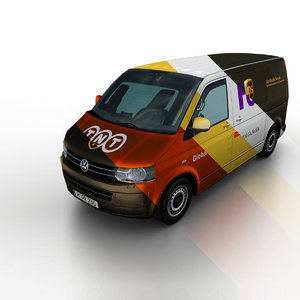 3d model 2011 volkswagen t5 transporter