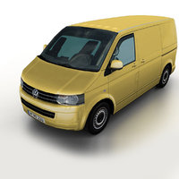3d 2011 volkswagen t5 transporter model