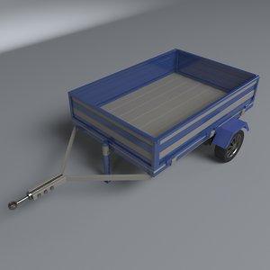 3D model trailer vans