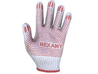 protective gloves with red dots