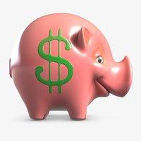 3D piggy bank 3