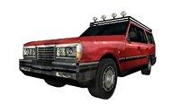 3D model station wagon car
