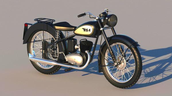 3D vintage bsa bantam d1