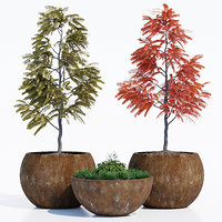 3D globe tree planters