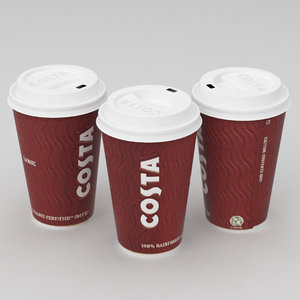 3d model costa coffe cup