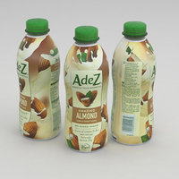 3D model bottle drink almond