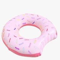 pool toy doughnut 02 3D model