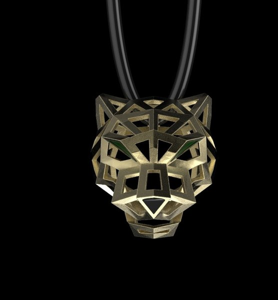 panther pendant jewelry model