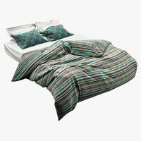 bed photorealistic realistic 3D model