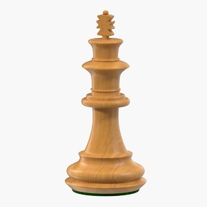 wooden chess king 3D model