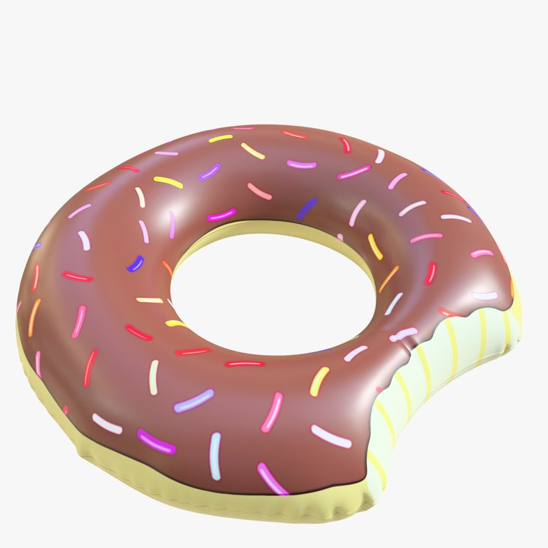 3D pool toy doughnut 03