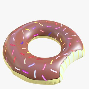 3D pool toy doughnut 03