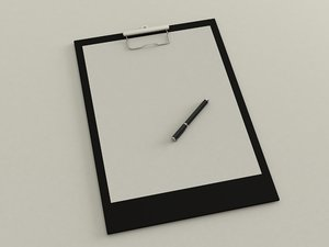 writing tablet 3D model