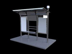 3D model bus station