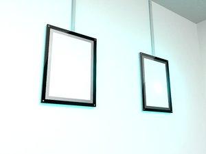 3D model lightbox poster