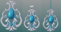 3D rings pendant earrings model