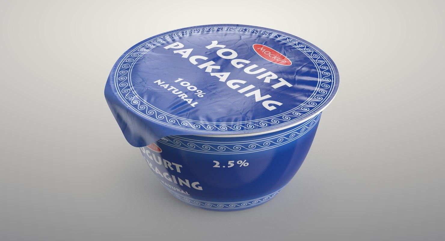 realistic food packaging 13 3D model