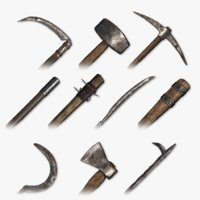 medieval tools packed 3D model