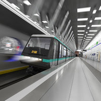 wilhelminaplein subway metro station train 3D
