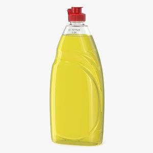 3D yellow liquid washing dishwashing