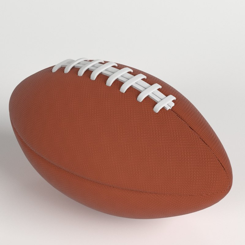 3D american football ball model