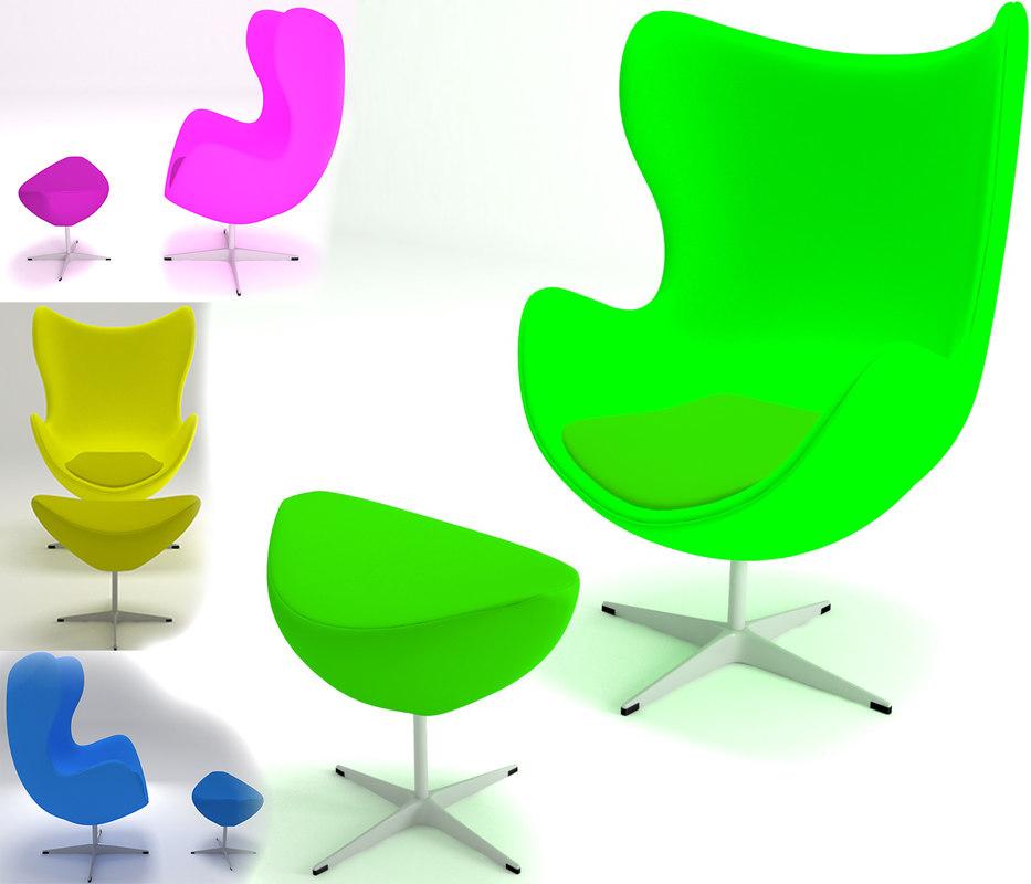 chair furniture furnishings 3D model