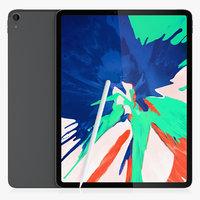 iPad Pro 12.9 Gray and Pencil 2018