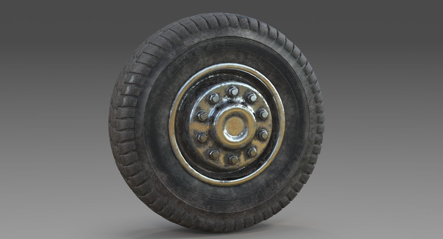3D model wheel dirty