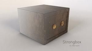 coffre-fort safe 3d model