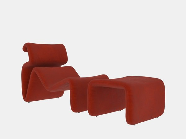 etcetera lounge chair ottoman model