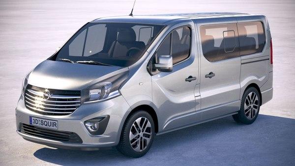 opel vivaro passenger 3D model