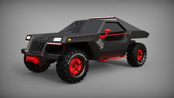3D concept modelled model