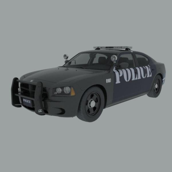 police car 2006 3D model