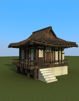 3D chinese house model
