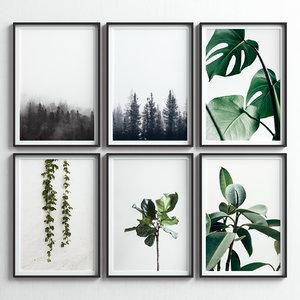 3D picture frames set -48 model
