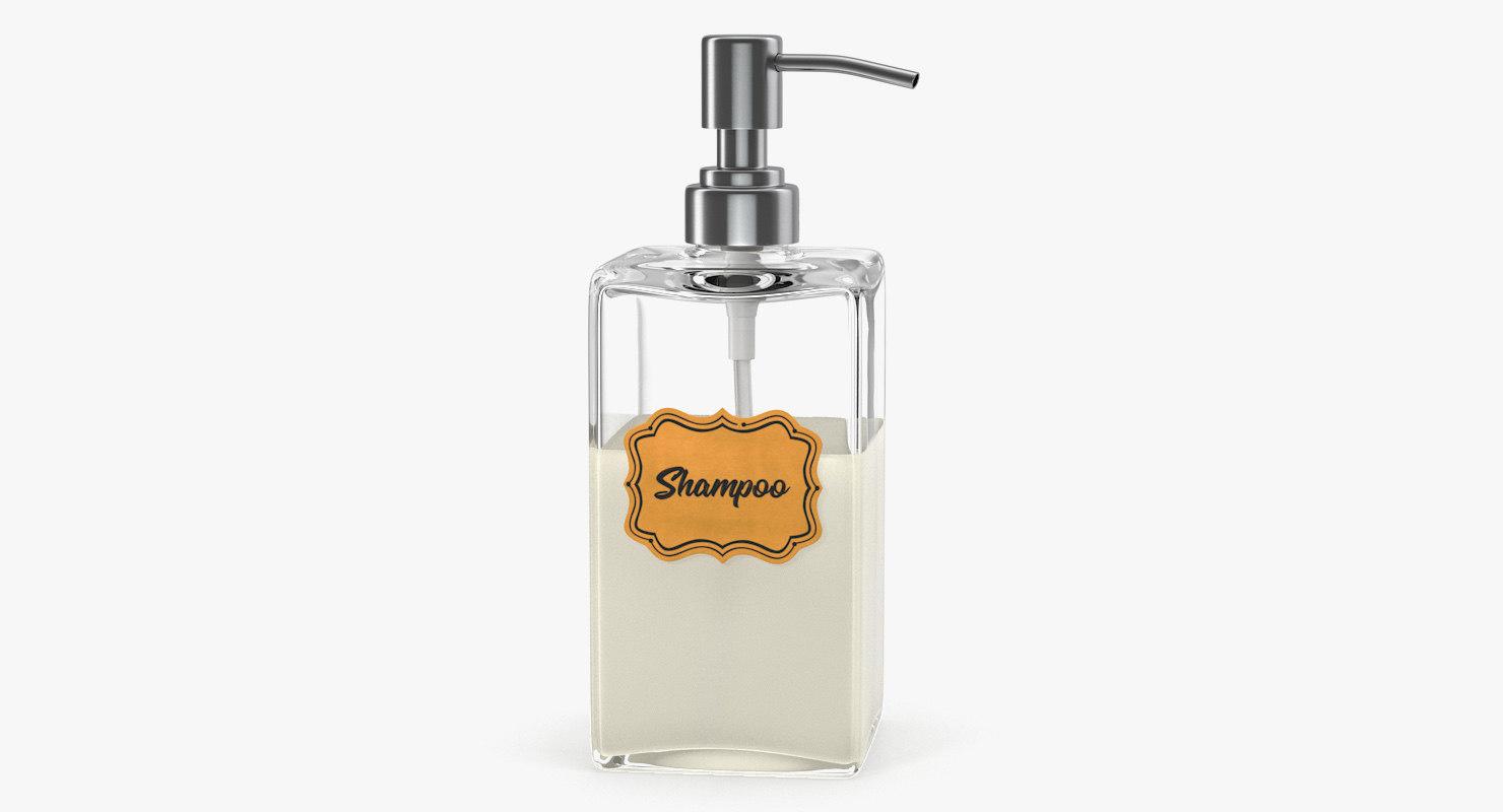 3D model dispenser shampoo rectangle