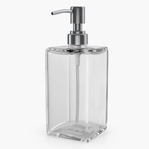 dispenser stainless metal pump 3D model